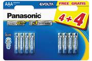 Panasonic LR03 AAA 4+4