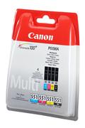 Canon PACK CLI-551 (1 NOIR + 1 CYAN + 1 MAGENTA + 1 JAUNE)