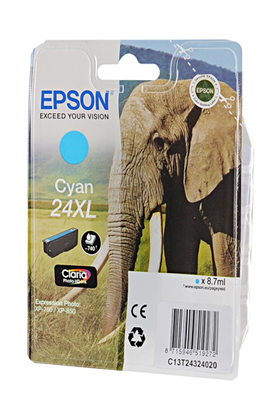 epson t2432 xl cyan elephant t2432. Black Bedroom Furniture Sets. Home Design Ideas
