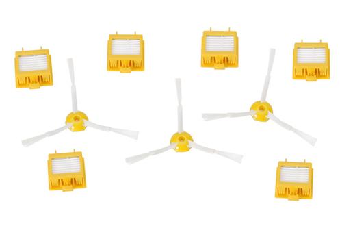 Kit d'accessoires pour robot Irobot série 700Comprend 6 filtres et 3 brosses latéralesles performances de votre aspirateur sont maintenues