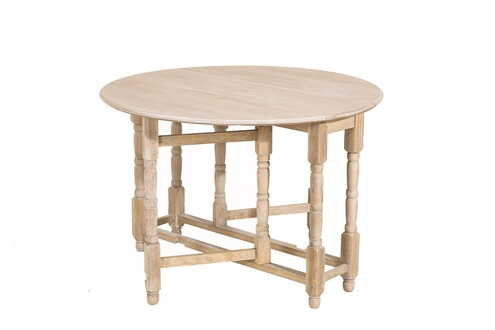Ormane table ronde 2 4 personnes bois clair for Table ronde 4 personnes