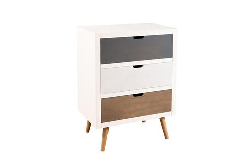 inventif bahut 3 tiroirs bois multicolore. Black Bedroom Furniture Sets. Home Design Ideas