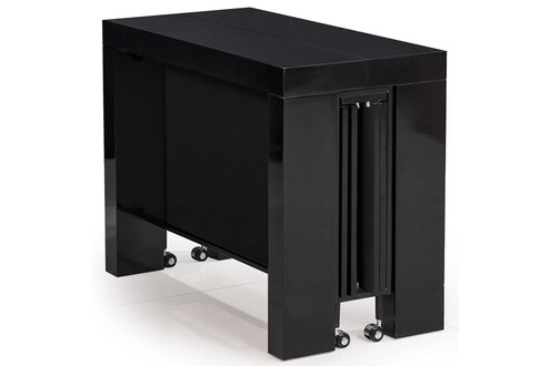Menzzo table console castille noir laqu - Menzzo table console ...