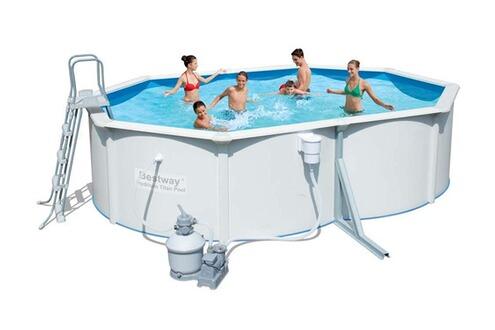 Bestway piscine acier ovale hydrium x x m for Bestway piscine service com