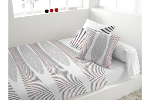 eden parure de lit 5 pi ces en percale spirit blanc. Black Bedroom Furniture Sets. Home Design Ideas