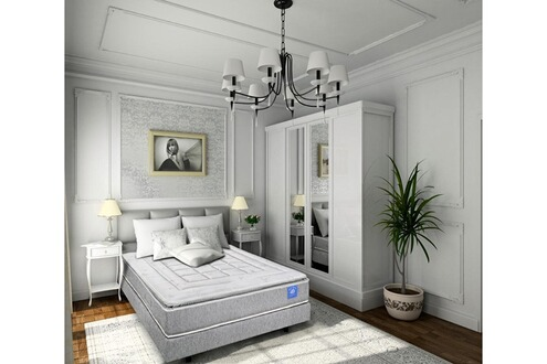 belle literie benoist ensemble surmatelas latex 140 x 190 cm elegance ii. Black Bedroom Furniture Sets. Home Design Ideas