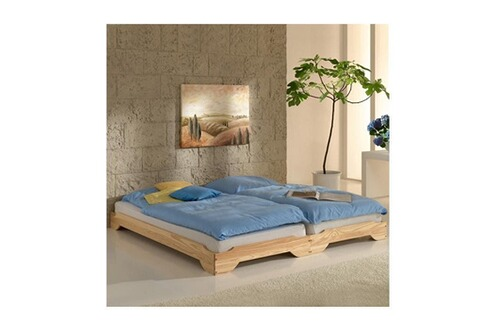 idimex 2 lits superposables 90x200cm pin massif naturel. Black Bedroom Furniture Sets. Home Design Ideas