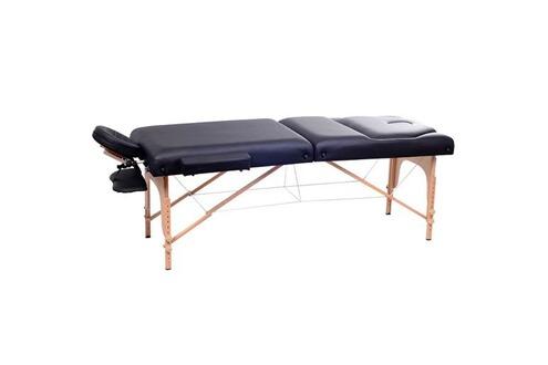 homcom lit table de massage cosm tique pliable en bois 3. Black Bedroom Furniture Sets. Home Design Ideas