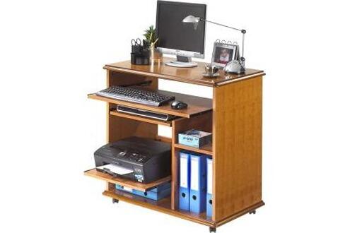 simmob console informatique merisier. Black Bedroom Furniture Sets. Home Design Ideas