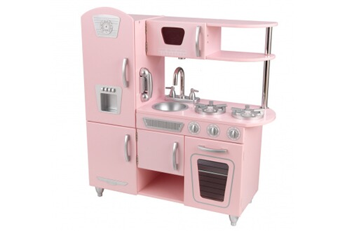 Kidkraft cuisine kitchenette rose en bois vintage for Cuisine rose kidkraft
