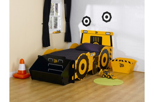 kidsaw lit tracteur 90 x 190 cm avec coffre jouets. Black Bedroom Furniture Sets. Home Design Ideas