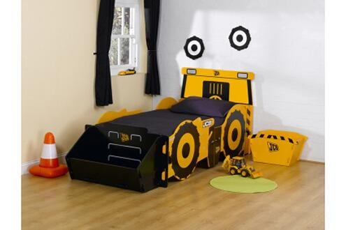 Kidsaw lit tracteur 90 x 190 cm avec coffre jouets for Lit tracteur