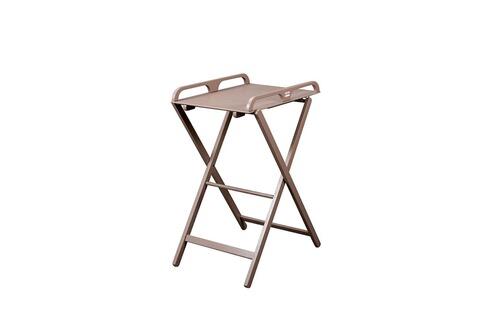 combelle table langer pliable taupe 2 hauteurs se range facilement gain de place. Black Bedroom Furniture Sets. Home Design Ideas