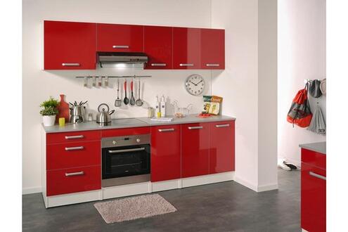 last meubles demi armoire four ultra rouge brillant. Black Bedroom Furniture Sets. Home Design Ideas
