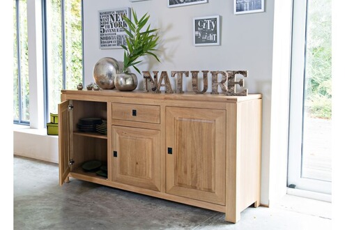 hellin meubles buffet en ch ne clair boston. Black Bedroom Furniture Sets. Home Design Ideas