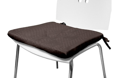 Soleil d ocre galette de chaise 40x40 cm snake taupe for Galette de chaise taupe