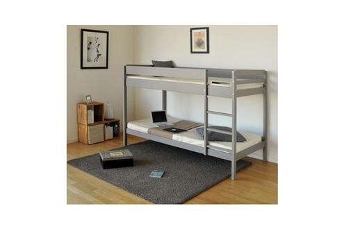 ud brice lits superpos s enfant 90x190 cm pin taupe. Black Bedroom Furniture Sets. Home Design Ideas