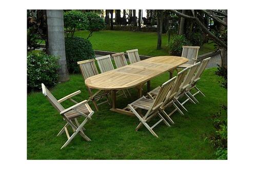 Design Et Prix Magnifique Salon De Jardin En Teck Klit Salon En Teck Massif 10 Pers 8 Chaises