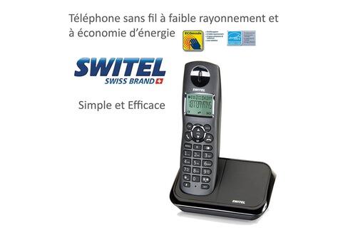 DETIGER Téléphone Sans Fil Simple Numérique Faibles Ondes à - Téléphone sans fil longue portée