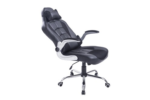 homcom fauteuil chaise de bureau mod le baquet de course. Black Bedroom Furniture Sets. Home Design Ideas