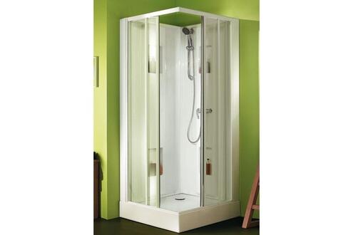 leda cabine de douche carr e izibox leda porte coulissante verre transparent dimensions cm 80. Black Bedroom Furniture Sets. Home Design Ideas