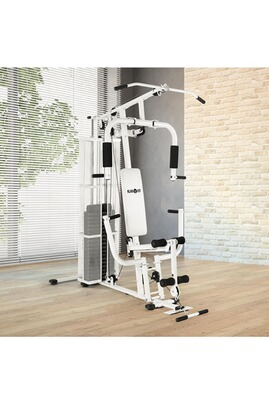 Klarfit klarfit ultimate gym 3000 station de fitness multifonctions blanche - Station de musculation professionnelle ...