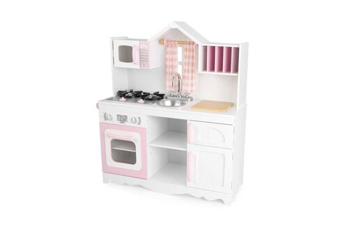 kidkraft cuisine enfant kidkraft campagnarde rose et blanche. Black Bedroom Furniture Sets. Home Design Ideas
