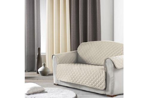 douceur d 39 interieur prot ge canap 2 places uni club naturel. Black Bedroom Furniture Sets. Home Design Ideas