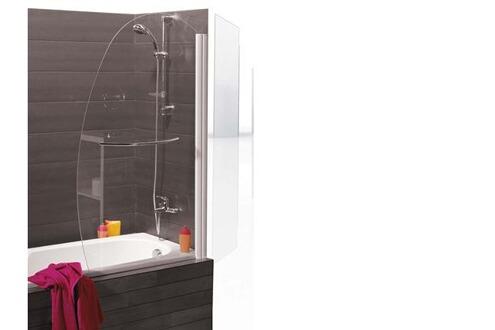 kinedo pare baignoire nassau 1 volet en forme de voile. Black Bedroom Furniture Sets. Home Design Ideas