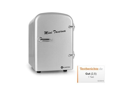 klarstein mini r frig rateur boissons conservation chaud froid 4l argent. Black Bedroom Furniture Sets. Home Design Ideas
