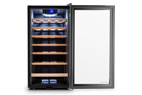 klarstein vivo vino 26 cave vin frigo vin 26 bouteilles 88 litres acier led. Black Bedroom Furniture Sets. Home Design Ideas