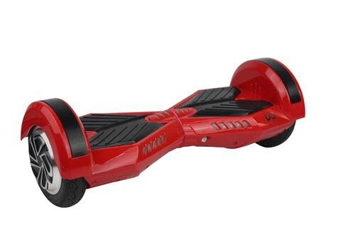 cool fun hoverboard bluetooth gyropode 8 pouces rouge noir. Black Bedroom Furniture Sets. Home Design Ideas