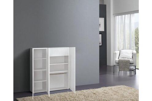 inside 75 meuble chaussures vague blanc brillant 3 portes. Black Bedroom Furniture Sets. Home Design Ideas