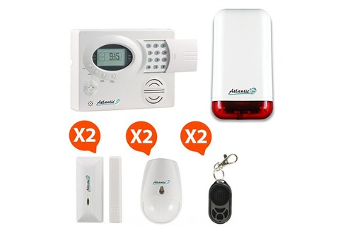Atlantic 39 s st iii alarme maison sans fil kit 3a md 329r for Alarme maison securite good deal