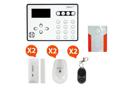 Atlantic 39 s ateos alarme de maison sans fil gsm kit 3 for Alarme maison securite good deal