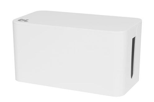 bluelounge boite de rangement de c bles blanche. Black Bedroom Furniture Sets. Home Design Ideas