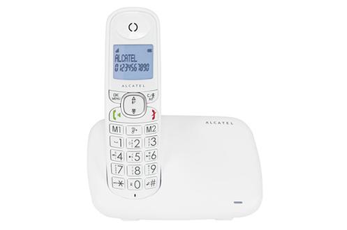 TéLéPHONE SANS FIL ALCATEL XL 375 BLANC
