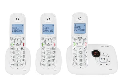 TéLéPHONE SANS FIL ALCATEL XL 375 VOICE TRIO BLANC