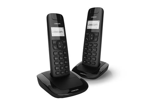 TéLéPHONE SANS FIL LOGICOM LOLA 250 DUO NOIR
