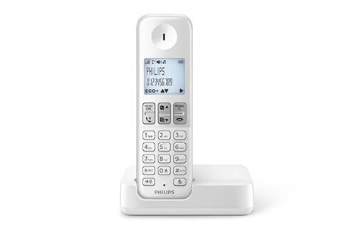 TéLéPHONE SANS FIL PHILIPS D230 SOLO BLANC