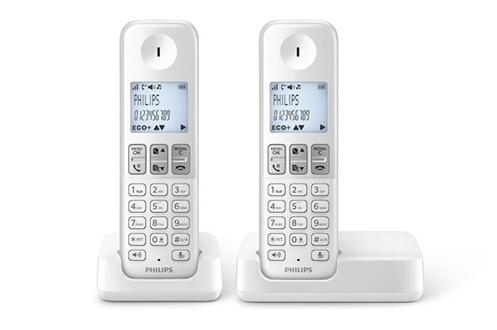 TéLéPHONE SANS FIL PHILIPS D230 DUO BLANC