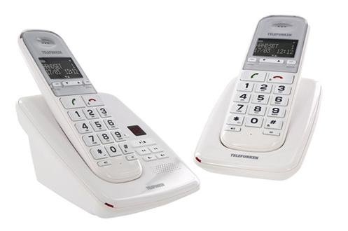 TéLéPHONE SANS FIL TELEFUNKEN TD 352 PILLOW BLANC