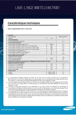 Samsung WW70J3467KW ECO BUBBLE