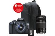 Canon EOS 1300D + EF-S 18-55MM DC III + EF 75-300mm f/4-5.6 III + Sac + SD 8GO