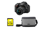 Nikon D5600 + AF-P DX NIKKOR 18-55 mm VR + HOUSSE + SD 16GO