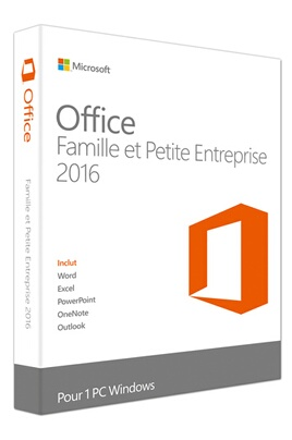 LOGICIEL PC ET MAC MICROSOFT OFFICE HOME AND BUSINESS 2016