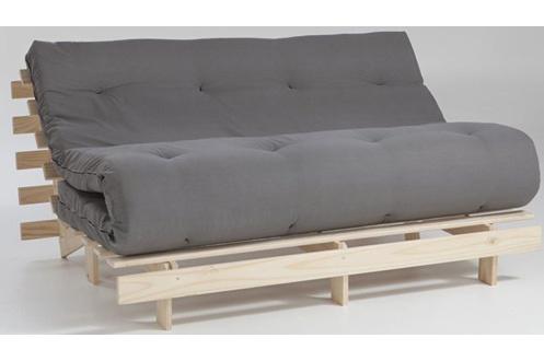 Newsom matelas futon 90x190cm gris coton - Matelas futon 1 place ...