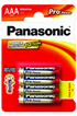 Panasonic PRO POWER AAA LR03 x4