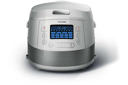 Multicuiseur intelligent - 5 litres19 programmes de cuisson - Fonction Etape de cuissonInterface digital - Départ différéAccessoires : panier vapeur, spatule, cuve avec poignées , livret de 55 recettes