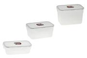 Lock & Lock Set de 3 boites de conservation emboitables